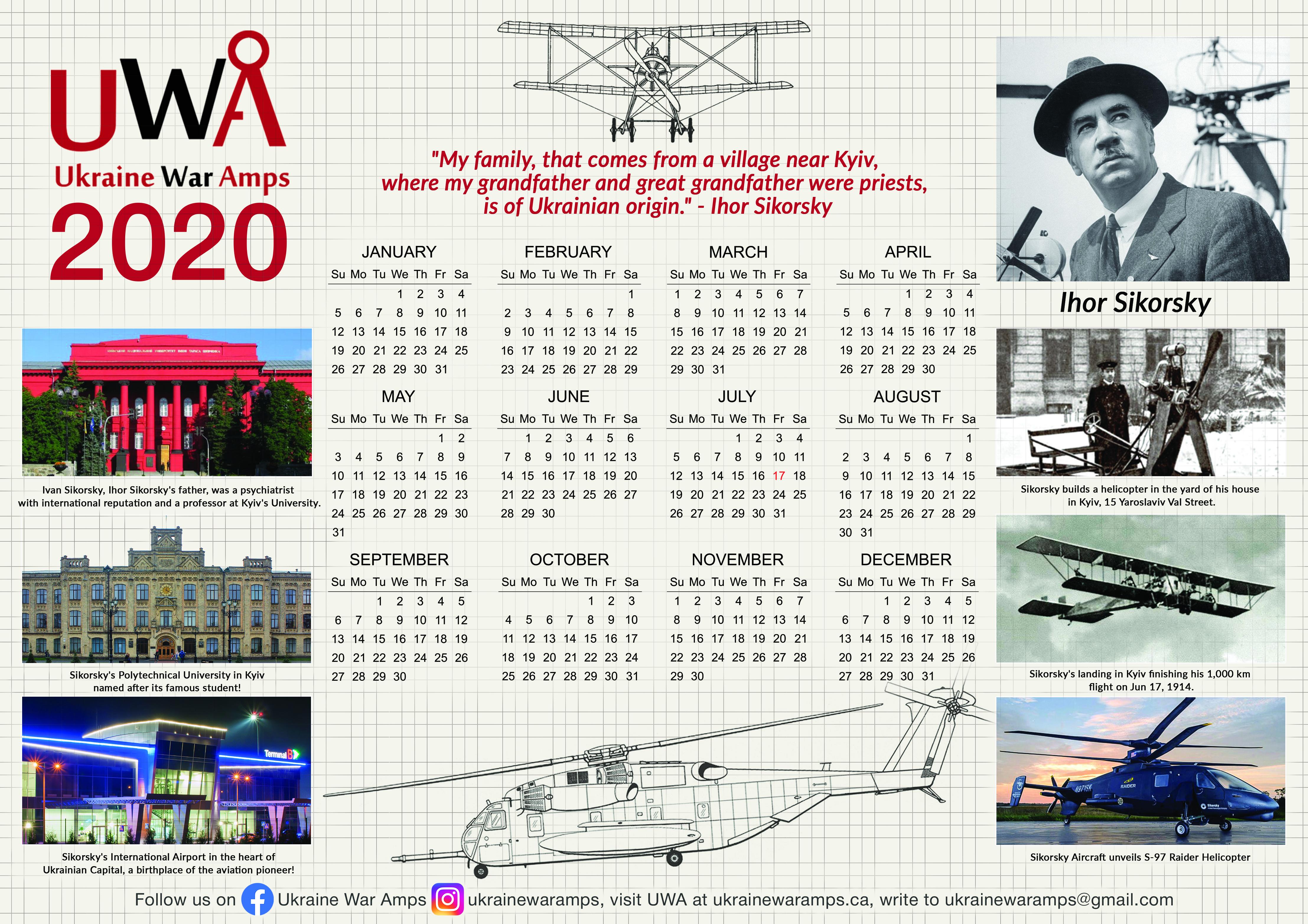 UWA2020 Calendar